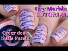 [ Nail Art ] Dry Marble Nails Tutorial - Créer des patch // melyne nailart