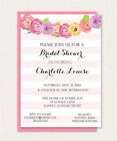 Printable String Gardenia Bridal Shower Invitation by ShorelyChic, $18.00