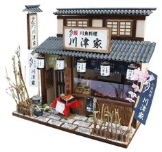 Doll House Handmade kit Japanese Retro Series [Eel Restaurant] Billy Japan #BillyDollhouse