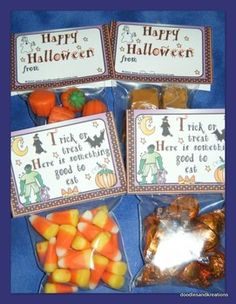 Halloween Treat Bag Topper-free