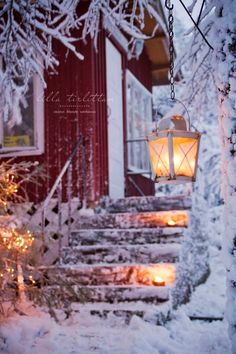 Traditional red wooden house in Finland. Winter time makes it look so cosy, right? I Love Snow, I Love Winter, Winter Snow, Winter Christmas, Winter Scenery, Winter Magic, Christmas Scenes, Winter Pictures, Winter Beauty
