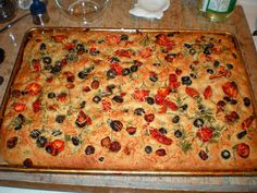 Whole Wheat Focaccia - The Fuzzy Chef & Friends Made this for dinner tonight and it was very good!