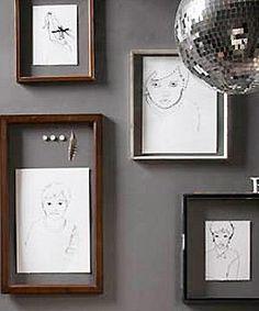 Sew stitched portraits DIY
