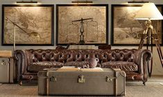 A must have- Framed world map living area Vintage Furniture and Decorative Accessories from Restoration Hardware, Retro Furniture Design