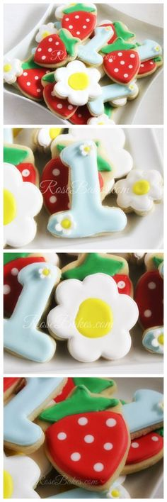 Strawberry Cookies 1st Birthday Party