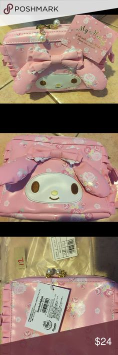 dd3a94278 NWT JAPAN imported Sanrio My Melody cosmetic bag New with tag lovely Lolita  MyMelody cosmetic bag