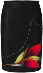 Wełniana spódnica z kolorową aplikacją Suzana I.