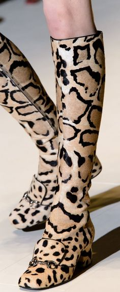 Gucci Fall 2014 leopard boots, now at NM