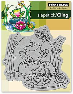 Toadily Happy - Slapstick Cling Rubber Stamp