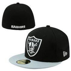 Cheap Wholesale Oakland Raiders 008 NFL Pop Basic 59FIFTY Collection Caps Black/White for slae at US$8.90 #snapbackhats #snapbacks #hiphop #popular #hiphocap #sportscaps #fashioncaps #baseballcap