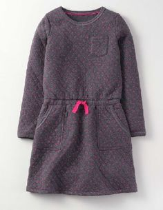 113dfd499aee Mini Boden Cosy Quilted Jersey Dress Charcoal On those extra chilly days,  wouldnt it be