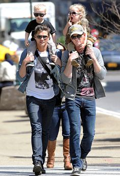 Neil Patrick Harris, David Burtka and their twins Gideon and Harper