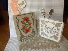 Lovely Garden pop-up card using the Zig Zag insert die. Primitive Seasons: Pop! Pop! Pop!
