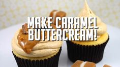 Here are the ingredients to make this delicious recipe! 3 ingredient Caramel Buttercream