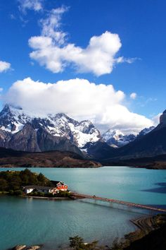 Lake Pehoé, Chile - have the same pic only on a cloudier day Places Around The World, Oh The Places You'll Go, Places To Travel, Travel Destinations, Places To Visit, Around The Worlds, Dream Vacations, Vacation Spots, Wanderlust