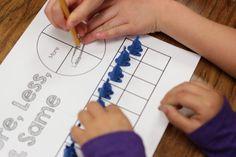 More, less and the same FREEBIE. Kindergarten math freebie!