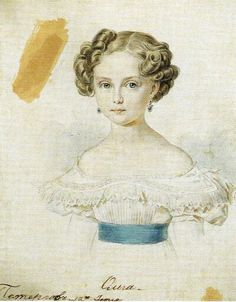 "Painting of the Grand Duchess Olga Nikolaevna Romanova of Russia  (the Elder)....daughter of Tsar Nicholas l of Russia. ""AL"""