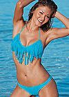 Fringe halter top, low rise, scoop moderate bottom from VENUS
