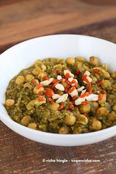 Chickpea Lentil Quinoa Spinach Stew. Vegan Glutenfree Recipe - Vegan Richa