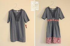 desaliñada regordete vestido de tres dólares: remodelado - ver kate coser