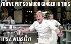You've put so much ginger in this, it's a Weasley.