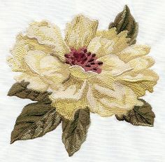 Machine Embroidery Patterns Machine Embroidery Designs at Embroidery Library! Machine Embroidery Applique, Learn Embroidery, Free Machine Embroidery Designs, Hand Embroidery Patterns, Ribbon Embroidery, Floral Embroidery, Applique Designs, Leaf Patterns, Embroidery Jewelry