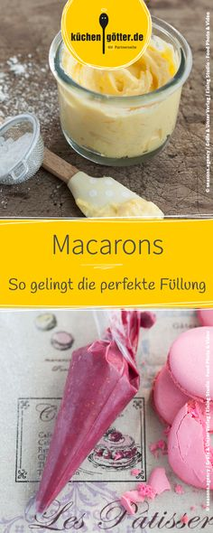 Make Macarons yourself: Whether hearty or sweet - we give .- Macarons selber machen: Egal ob herzhaft oder süß – wir geben euch Tipps für … Make Macarons yourself: Whether hearty or sweet – we give you tips for the perfect macaron filling. Italian Cookie Recipes, Italian Desserts, Pastry Recipes, Mexican Food Recipes, Dessert Recipes, Macarons Filling Recipe, Macaron Nutella, Macaron Foie Gras, How To Make Macarons