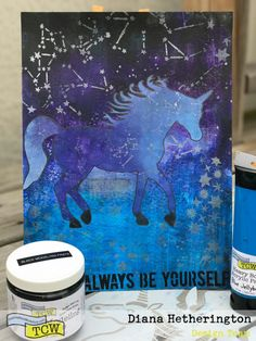 hello everyone! I am back this month to show you another unicorn page in my journal! do you remember last month when I had mentioned how the light on the front of my unicorn reminded me of the moon…