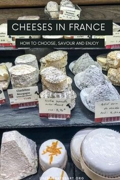 Cheeses in France are an inherent part of the gourmet culture. These insights will help you choose and enjoy delicious cheeses from different regions of France. Which French cheese will you try? #frenchcheese #bestfrenchcheesestotry #knowyourfrenchcheese #lagastronomiefrancaise #frenchcheeselikealocal #typesoffrenchcheese #enjoyfrenchcheese Cheese Shop, Milk And Cheese, Blue Cheese, Goat Cheese, French Cheese, Cheese Platters, Restaurant Recipes, Taste Buds, French Friend