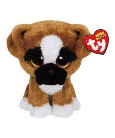 Ty Beanie Boo Plush - Brutus The Boxer Dog Approximaltey 36188 Description You'll never know how much I care I'll give you big licks. Beanie Boo Dogs, Beanie Babies, Stuffed Animals, Ty Beanie Boos Collection, Beanie Boo Birthdays, Der Boxer, Ty Plush, Boxer Puppies, Brown Dog