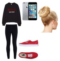 """""""When You're All Alone on Valentine's Day"""" by maddiemae121999 ❤ liked on Polyvore featuring moda, NIKE, Vans, women's clothing, women, female, woman, misses e juniors"""