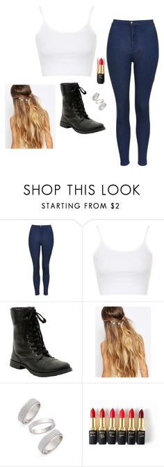 """""""Untitled #2718"""" by if-i-were-famous1 ❤ liked on Polyvore featuring Topshop, Johnny Loves Rosie, L'Oréal Paris, women's clothing, women, female, woman, misses and juniors"""