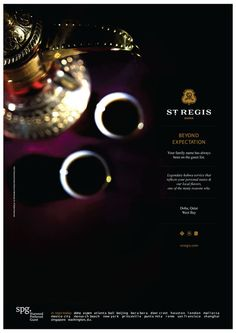 St Regis hotel by georges bouibrahim, via Behance Ad Design, Branding Design, Graphic Design, Hotel Ads, Hotel Branding, Tourism Industry, Creative Advertising, Ad Campaigns, Print Ads
