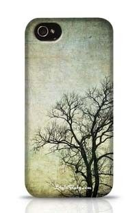 Grunge Frame With Tree Silhouettes Apple iPhone 4 Phone Case