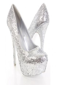 Cute Silver Heels For Prom