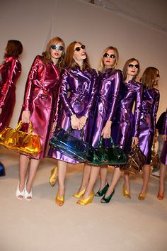 Burberry Prorsum Spring 2013 Backstage