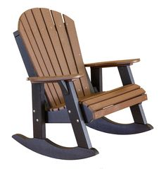 Heritage Fan Back Poly Lumber Rocking Chair by Little Cottage Company