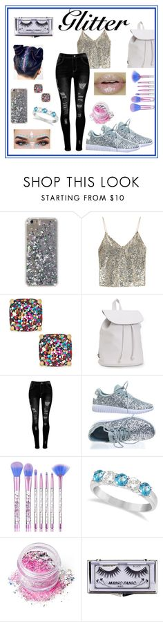 """""""Pullin' on the Ritz: Glitter hair"""" by mcculleysadie on Polyvore featuring beauty, Alice + Olivia, Kate Spade, Aéropostale, Forever Link, Allurez, In Your Dreams and Manic Panic NYC"""