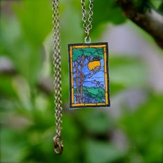 stained glass effect via shrink plastic...Beautiful! ********************************************   CinnamonCatDesigns via Etsy - #shrink #plastic #jewelry #crafts - tå√