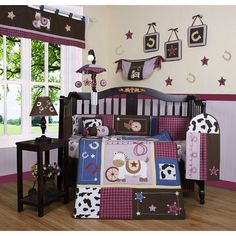 Cowgirl baby room! I don't like the theme, but they managed to pull it off.