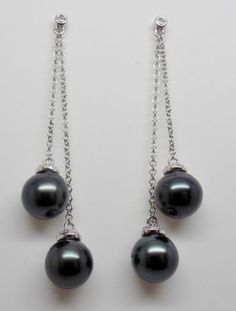 8-5-9mm-BlackTahitian-Pearl-Peacock-Overtones-2-1-8-034-Dangly-Earrings-14k-NEW-011