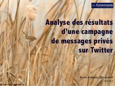 Analyse des résultats d'une campagne de messages privés sur Twitter #twitter