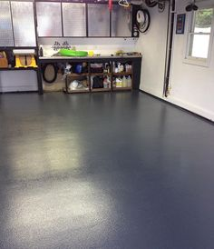 Join us as we discover all the ups and downs of this popular garage flooring! Join us as we discover all the ups and downs of this popular garage flooring! Garage House, Garage Walls, Garage Shop, Diy Garage, Garage Storage, Cabinet Storage, Garage Ideas, Garage Organization, Small Garage