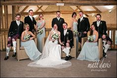 Unusual photos of Weddings at Kingscote Barn taken on Red Nose Day