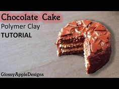 Miniature Chocolate Layer Cake - Polymer Clay TUTORIAL - YouTube