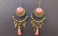 Detailed, Hoops, Discs, Drops, Tassel, Chains, Beads, Bright Colors, Layered Earrings