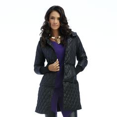 Nicki Minaj Women's Convertible Quilted Jacket