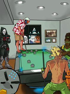 Overwatch,Blizzard,Blizzard Entertainment,фэндомы,Reaper (Overwatch),Soldier 76,Mei (Overwatch),Zenyatta,Junkrat,Lucio
