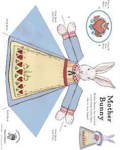 Easter bunny paper toy    from thetoymaker.com