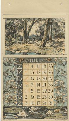 Een vrouwtje door het bos rond de maand kamperfoelie en waterlelies.